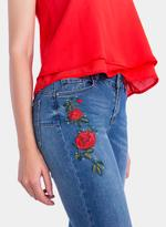 Tiffosi Blue Light Push Up Embroidered Skinny Fit Jeans (TFS023)