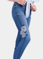 Tiffosi Blue Body Curve Embroidered Skinny Fit Jeans (TFS024)