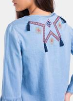 Tiffosi Blue Frank Embroidered Denim Top (TFS033)