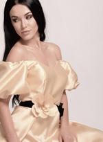Si Fashion Galerie Beige Evening Gown (04007)