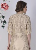Mandira Wirk Gold-Toned Embroidered Jacket with Anarkali (MW/FW-V001)