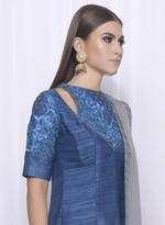 Mandira Wirk Blue & Grey Kurta with Pants & Dupatta (MW/FW-A004)
