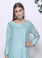 Mandira Wirk Aqua Blue & White Kurta with Pants & Dupatta (MW/FW-AO26)