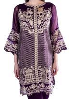Agha Noor Purple & Beige  Embroidered Kurta Set (ANSS'19-04