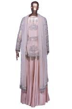Aneesh Agarwaal Blush Pink Embroidered Lehenga Set (AVS-123) by Vesimi