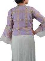 Latha Puttanna Mint Green & Mauve Saree with Stitched Blouse