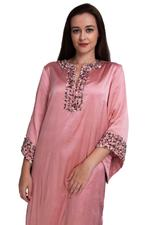 Escale Pink & Maroon Embellished Kurta with Pants (DC006P Set)