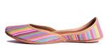Desi Swag Multicolor Rainbow Striped Juttis (DS-21)