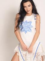 Fifth Season London White Short Evening Dress (FS0020)