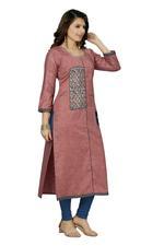 Suumaya Pink Cut & Sew Printed Kurta (JC-561)