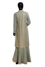 Shivani Tijori Pale Green Sequin Embellished Chikankari Lehenga Set (ST 2307) by Zene