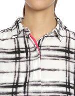 LoveGen White & Black Checked Shirt Dress (BW-2-A)