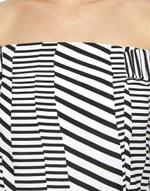 LoveGen Black & White Print Playsuit (BW-5-B)