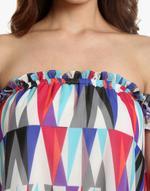 LoveGen Multicolored Printed Off-Shoulder Top (SM2)