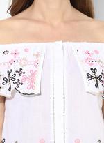 LoveGen White Embroidered Off-Shoulder Top (SN15)