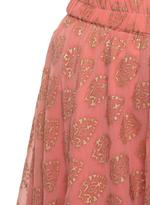 Imara Pink Embroidered & Printed Crop Top with Lehenga  (A18NORSKS964)