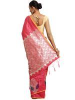 Stylee Lifestyle Coral Banarasi Silk Jacquard Saree (2072)