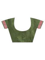Stylee Lifestyle Maroon & Green Silk Jacquard Saree (2165)