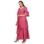 Anupma & Devika Koyi Taro Dark Pink Ketki Embellished Kurta with Palazzos & Dupatta (AD-F-107)