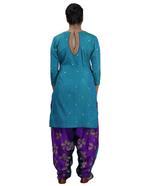 Latha Puttanna Blue, Purple Embroidered Kurta Patiala Set (AW19-33)