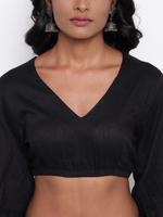 TrueBrowns Black & Pink Floral Print Skirt & Top Set (TB2195)