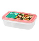 2 Compartment Food Keeper 800 ML - Pink