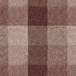 Matte Finish Rust Checked Upholstery Fabric