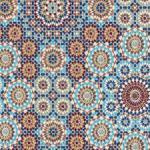 Moroccan Aqua Gediz Upholstery Fabric
