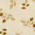 Leaf Printed Brown Curtain Fabric