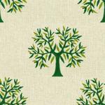 Tree Printed Green Curtain Fabric