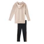 Genius Girls Sweatshirt With Full Legging Set , Beige/Black - HDGLAW202142