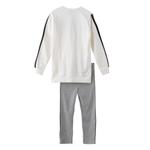 Genius Girls Sweatshirt With Full Legging Set ,Off White/Grey - HDGLAW202143