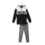 Genius Girls Sweatshirt With Full Legging Set , White/Black - HDGLAW202194