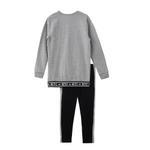 Genius Girls Sweatshirt With Full Legging Set , Grey/Black - HDGLAW202145