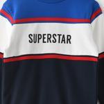 Genius Boys Sweatshirt With Full Pant Set , Royal Blue/Navy - HDGLW20B2051