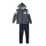 Genius Boys Hoodie With Full Pant Set , Navy/Grey Melange - HDGLW20B2002