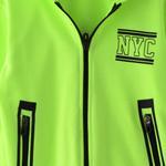 Genius Boys Hoodie With Full Pant Set , Neon Green/Black - HDGLW20B2007