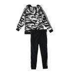 Genius Boys Hoodie With Full Pant Set , White/Black - HDGLW20B2013