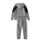 Genius Boys Hoodie With Full Pant Set , Light Grey/Dark Grey - HDGLW20B2011