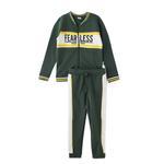 Genius Boys Sweatshirt With Full Pant Set , Green - HDGLW20B2021