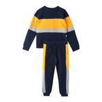 Genius Boys Sweatshirt With Full Pant Set , Yellow/Navy - HDGLAW20B2209