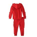 Genius Boys Hoodie With Full Pant Set , Red - HDGLW20B2056