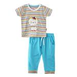Smart Baby Baby Boy T-Shirt With Full Pant Set, Sky Blue - SNGS2035202
