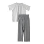 Genius Boys T-shirt With Full Pant Set,White/Grey Melange - SNGS2034863