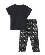Genius Boy T-shirt With Full Pant Set, Black - SNGS2034658