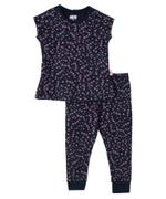 Smart Baby Baby Girls T-shirt With Full Pant Set,Navy - SNGS2035302