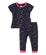 Smart Baby Baby Girls T-shirt With Full Pant Set,Navy - SNGS2035296