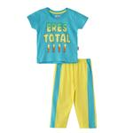 Smart Baby Baby Boys T-Shirt With Fulll Pant Set,Sky Blue/Yellow,SNGS2034983
