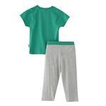 Genius Boys T-Shirt With Fulll Pant Set,Green/Melange,SNGS2034809