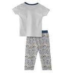 Smart Baby Baby Boys T-Shirt With Fulll Pant Set -White,SNGS2035071